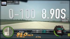 汉兰达超级评测0-100km/h加速车内视角