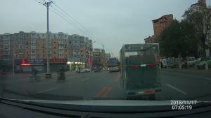 被横穿马路车干扰