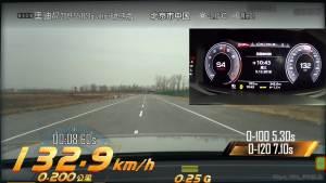奥迪A7超级评测加速测试视频。