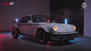 大神Magnus Walker和一台白色Martini 911 turbo的故