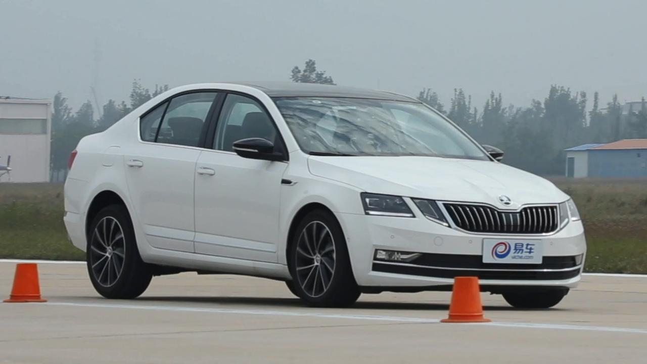 2018款斯柯达明锐 100-0km/h刹车测试