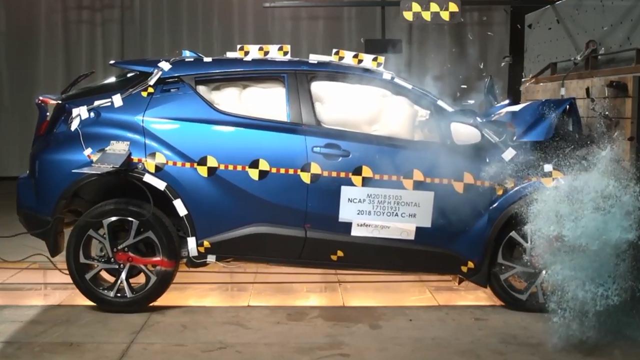 2018款丰田C-HR NHTSA正面碰撞测试-丰田汽车报价 图片 2017丰田高清图片